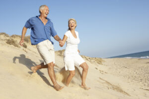 Senior couple aging and life plannig finances